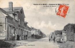 Hameau De La Maine Commune De Maromme La Route De Duclair Carte Animée 76 Le Café Circulée Timbre 1919 Chère Eugénie.... - Maromme