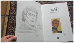Val Capitaine De L'espace Paape Duval Dédicacé Signature Dessin Signé Tintin Spirou Marc Dacier Luc Orient - Autographs