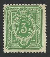 Germany, 3 Pf. 1875, Sc # 29, Mi # 31, MH - Unused Stamps