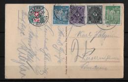 NACHTAXIERUNG → Karte Mit Mischfrankatur Deutsches Reich & Nachporto SBK35/25Rp. Seltene Frankatur! - Portomarken