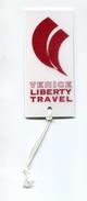 """Etiquette De Bagage Publicitaire """"Venice Liberty Travel"""" Venise - Aviation - Avion - Italie - Étiquettes à Bagages"""