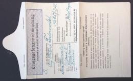 Formulaire Bleu ENVOI DE COLIS Cyrillique Prisonnier De Guerre Serbe STALAG IX B Bad Orb Pour Beograd Serbia 1943 - Guerre De 1939-45