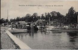 CPA Péniches Hallage Navigation Fluviale Marinier Canal écluse Non Circulé RIBECOURT OIse - Arken