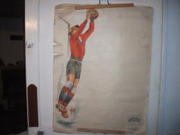 Affiches:Pub  Viandox.Footbal.illustrateur P.Grosjean. - Affiches