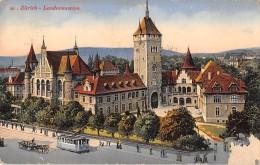 "06368  ""ZÜRICH - LANDESMUSEUM"" ANIMATA, TRAMWAY - CARRO CART. ILL. ORIG. SPEDITA 1915 - ZH Zurich"