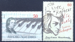 MK 2010-552-3 CHOPIN SCHUMAN, MACEDONIA, 1 X 2v, MNH - Mazedonien