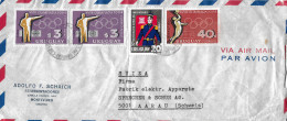 MONTEVIDEO - AARAU → Par Avion/Luftpostbrief Mit Marken Der Olympiade 1964 - Uruguay