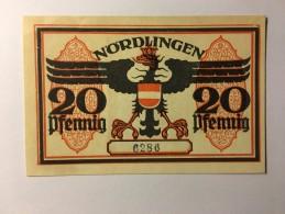 Allemagne Notgeld Nordlingen 20 Pfennig 1921 NEUF - Collections