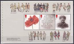 Great Britain The Great War WW I Prestige Booklet 2014 Pane 1 - Carnets