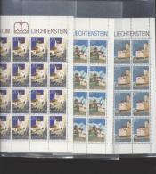 Liechtenstein **  896-898  Schloß Vaduz       Kleinbogen Ungefaltet Katalog 44,00 - Unused Stamps