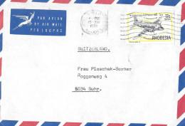 GWELO RHODESIA - SUHR SWITZERLAND → Par Avion 15.12.1978 - Rhodesien (1964-1980)