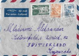 PROKUPLUJE - ZÜRICH → Air Mail/Luftpost Mit Stempel Prokupluje 30.08.1952 - 1945-1992 République Fédérative Populaire De Yougoslavie