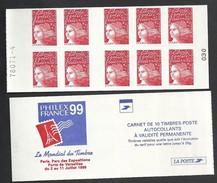 Carnet Marianne De Luquet N° 3085 C4  Livraison Gratuite - 1997-04 Marianne (14. Juli)