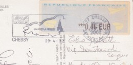 Francia - Prioritaire Targhetta CHESSY 2002 - Storia Postale