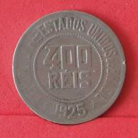 BRAZIL 400 REIS 1925 -    KM# 520 - (Nº16574) - Brésil