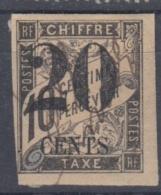 #108# COLONIES GENERALES TAXE N° 6 Surchargé 20 CENTS (Cochinchine)