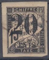 #108# COLONIES GENERALES TAXE N° 7 Surchargé 20 CENTS (Cochinchine)