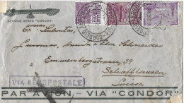 RIO DE JANEIRO - SCHAFFHAUSEN → Air Mail/Luftpostbrief Stempel Rio De Janeiro 17.10.1932 - Lettres & Documents