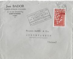 SAINT-ÉTIENNE - DÜRRENÄSCH → Brief Mit Abstempelung 08.11.1963 - France