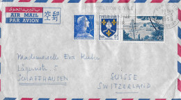 PARIS - SCHAFFHAUSEN → Air Mail/Luftpostbrief Mit Abstempelung 05.03.1958 - Frankreich