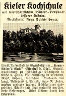 Original-Werbung/ Anzeige 1910 - KIELER KOCHSCHULE / ELLERBEK - KIEL - Ca. 45 X 60 Mm - Werbung