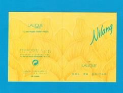 Cartes Parfumées  Carte NILANG De  LALIQUE RECTO VERSO PATCH - Perfume Cards