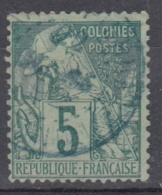 #108# COLONIES GENERALES N° 49 Oblitéré En Bleu Saint-Pierre (Martinique)