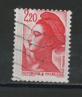 FRANCE  - LIBERTÉ  2,20 ROUGE PIQUAGE DÉCALÉ N° YT 2376 OBLIT. - 1982-90 Liberty Of Gandon