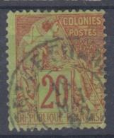 #108# COLONIES GENERALES N° 52 Oblitéré En Bleuté Fort-de-France (Martinique)
