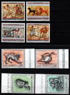 San Marino 1971, 1975  MiNr. 980/ 983 + 1083/ 1086  **/ Mnh  Kunst Der Etrusker - Ungebraucht