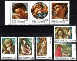 San Marino 1975  MiNr. 1090/ 1094 + 1102/ 1104  **/ Mnh  Fresken Von Bondone, Werke Von M. Buonarotti - Ungebraucht