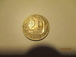 USSR RUSSIA 20 KOPEK 1940 COIN  , 0 - Russie