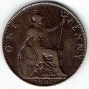 Great Britain, One Penny 1902, High Sea Level - 1902-1971 :  Post-Victoriaanse Muntstukken