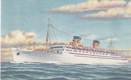 SS Atlantic Vessel - Ocean Liner - Cruise Ship - Paquebot Boat Bateau - 2 Scans - Steamers
