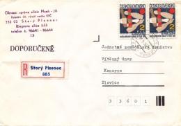 K9333 - Czechoslovakia (1988) Stary Plzenec (R-letter) Tariff: 4 Kcs (stamp: 50th Anniversary Of Bowling Association)