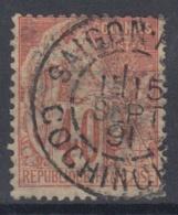 #108# COLONIES GENERALES N° 57 Oblitéré Saigon Port (Cochinchine)