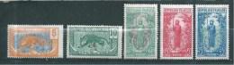 Colonies Francaise  Timbre Du Congo De 1922  N°67 A 71   Neufs * - Französisch-Kongo (1891-1960)