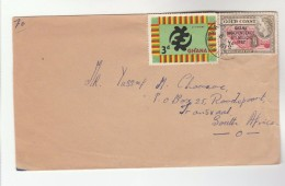1961 GHANA Stamps COVER To South Africa - Ghana (1957-...)