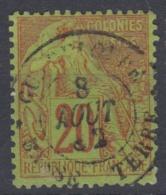 #108# COLONIES GENERALES N° 52 Oblitéré Basse-Terre (Guadeloupe)