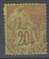 #108# COLONIES GENERALES N° 52 Oblitéré Saint-Claude (Guadeloupe)