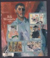BELGIE BELGIQUE BELGIUM 2016 Rik Wouters (1882-1916) - Belgium