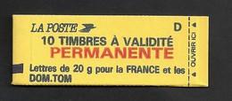 Carnet 2806 C1 Type Marianne De Briat  Livraison Gratuite - 1989-96 Marianne (Zweihunderjahrfeier)
