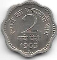 *india 2 Paisa 1963 B  Km 11  Vf+ - Inde