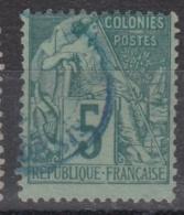 #108# COLONIES GENERALES N° 49 Oblitéré En Bleu St-Denis (Réunion)