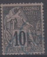 #108# COLONIES GENERALES N° 50 Oblitéré En Bleu St-Denis (Réunion)