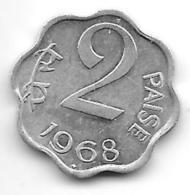 *india 2 Paisa 1968 B  Km 13.5  Xf+ - India