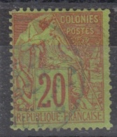 #108# COLONIES GENERALES N° 52 Oblitéré En Bleu Saint-Paul (Réunion)