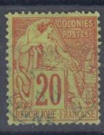 #108# COLONIES GENERALES N° 52 Oblitéré En Bleu Cachet Maritime Ligne SV (Réunion)