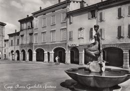 ITALY - Carpi - Piazza Garibaldi E Fontana - Carpi