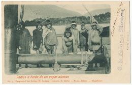 Indios A Bordo De Un Vapor Aleman Chile Used Punta Arenas Magallanes Indiens Genocide Edit W. Seliger - Amérique